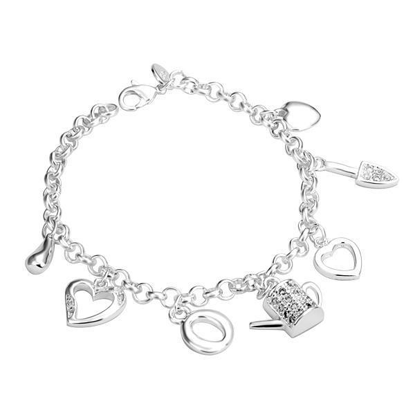 2021 Novas Vendas Quentes 925 Sterling Silver Love Presente Charme Pulseiras Fantasia Fantasia Mulheres Braceletes Jóias Para As Mulheres