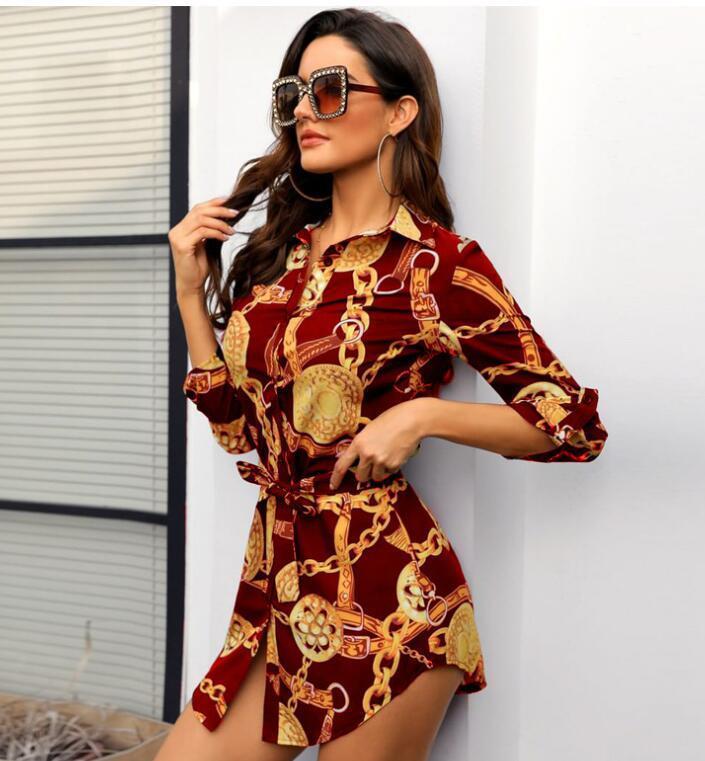 2020 heißer verkauf frauen stitching tops mode roman gedruckt langärmliges hemd sexy personalität bluse shirt freies verschiffen