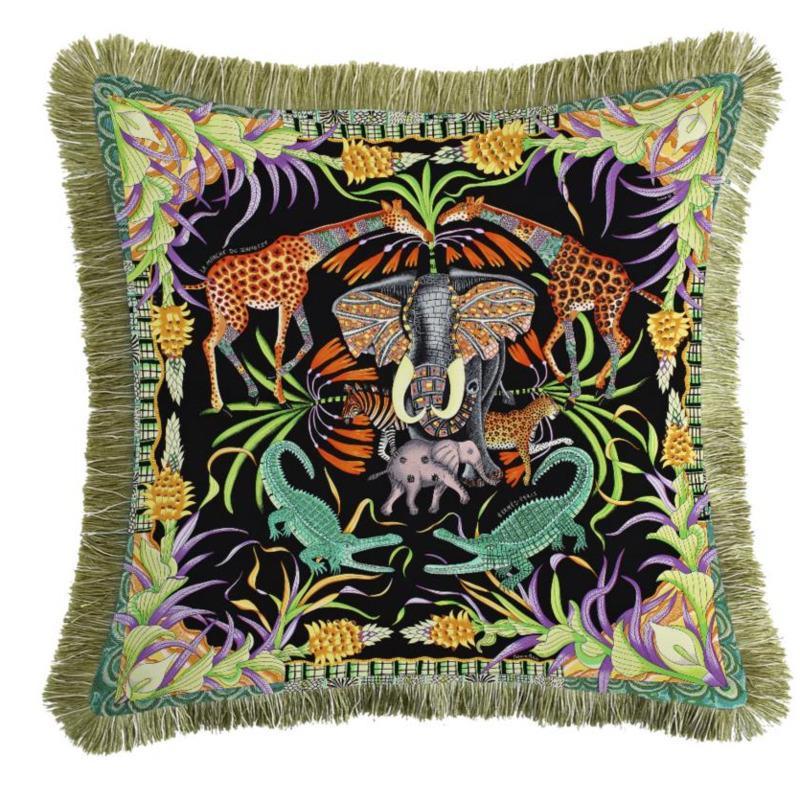 Lüks Kadife 45x45 cm Kapak Yastık Baskılı Kanepe Yumuşak Yastık Kılıfı Yastık Yastıklar Dekoratif Ev Atmak Çift Sandalye Püskül Kujqe