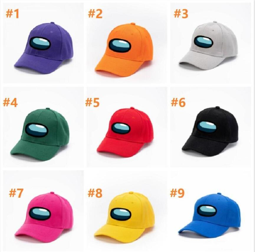 2021 New Fashion Design 9 Styles Among us Game Hat Outdoor Cycling Hats Unisex Adults Students Riding Skiing Baseball Cap FY931