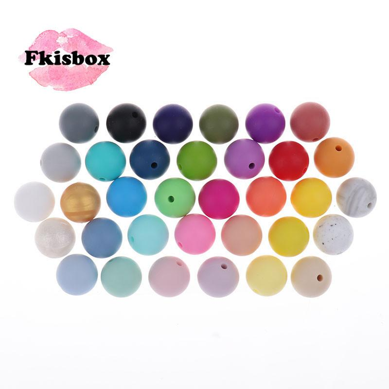 Whosale 12mm Round Silicone Beads 200 Pieces BPA Free Silicone Baby Teether Teething Jewelry Babies Pacifier Chain Accessories 201124