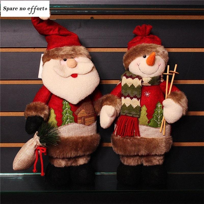 Navidad Figurine dagiato giocattolo di Natale decorazioni per la casa festa di compleanno regalo Adornos de Navidad Babbo Natale Snowman Dolls Kith #