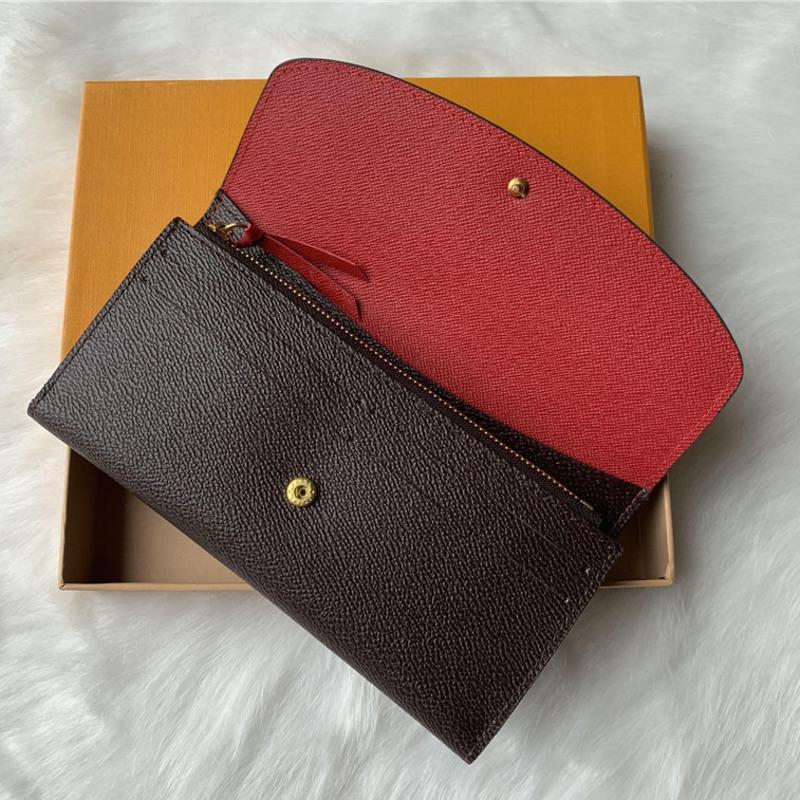إمرأة محفظة جلدية 9 ألوان أزياء واحدة سستة حتى pocke للنساء السيدات خمر بطاقة الائتمان الطويل محفظة مع حاملي مربع البرتقال