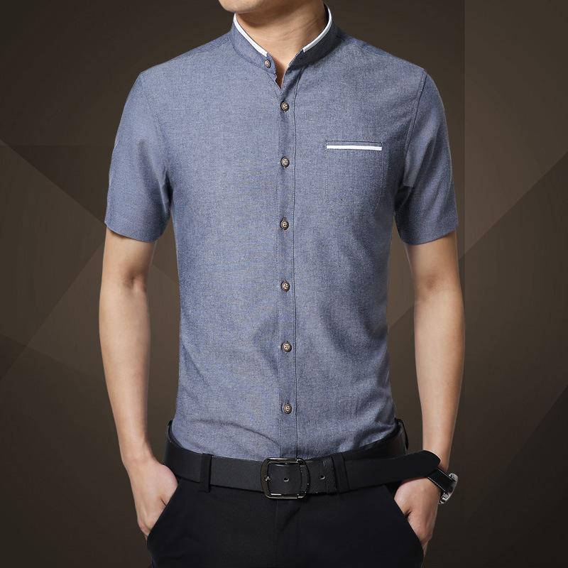 2020 de Homens Marca New shirt do verão de manga curta fino de algodão Top