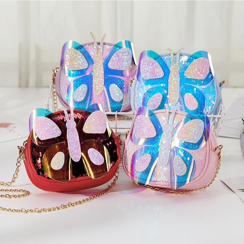 Bolso de la cadena coreana Mini Girls Chicas Crossbody Bolsas de lentejuelas para bolsas de lentejuelas para bolsas Hombro de embrague para niños 2020 Kids Tacip