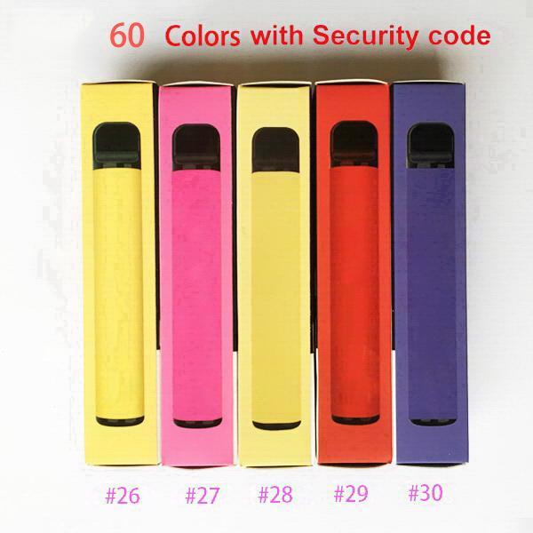 PLUS 60 colors 800 Puffs Disposable Pod Empty Electronic Cigarette Vape Pods Stick Bar Portable Vaporizer