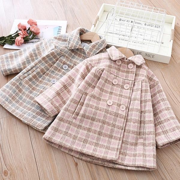 vestiti della ragazza cappotto di lana per bambini spessi 0927