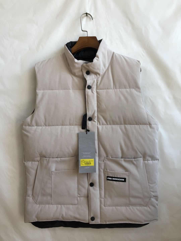 2020 Brand New Canada Estados Unidos Estilo Mens Freestyle Real Feather Down Inverno Moda Vest Bodywarmer Advanced Waterproof Tecido