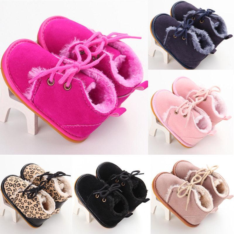 Pudcoco yepyeni Yenidoğan Bebek Kız Erkek Bebek Kar Patik Kürk Boots bantlı ayakkabılar ısıtın 0-18M