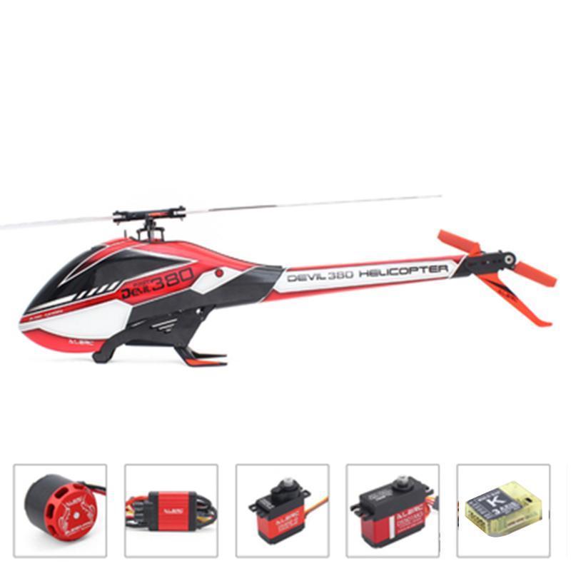 ALZRC - Devil 380 RAPIDA elicottero FBL Super Combo RC con DS452-S CCPM DS501MG Servo MINI K-BAR V2 3-Axle sistema della girobussola