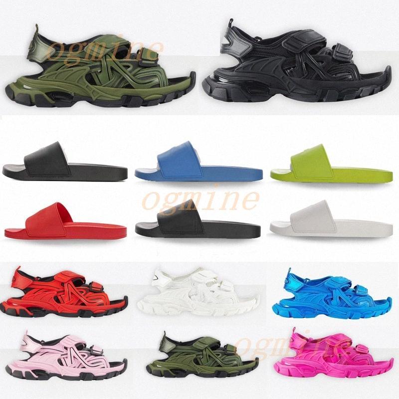 2021 Mens Bayan Tasarımcılar Parça Sandalet Moda Rahat Ayakkabılar Terlik Slayt Ayakkabı Erkek Kadın Kalın Alt Beach Sandalet 36- F1YQ #