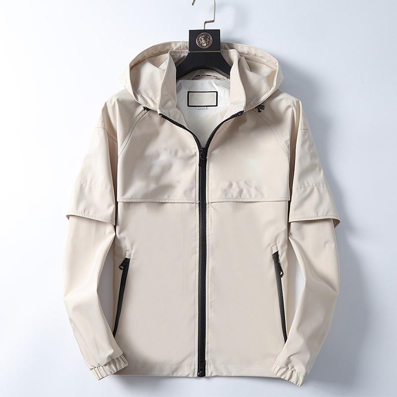 Yüksek kaliteli tasarımcı ceket adam için uzun kollu gömlek erkek ceket sonbahar kış bahar lüks giyim nakış mektup ceket kapüşonlu M-3XL