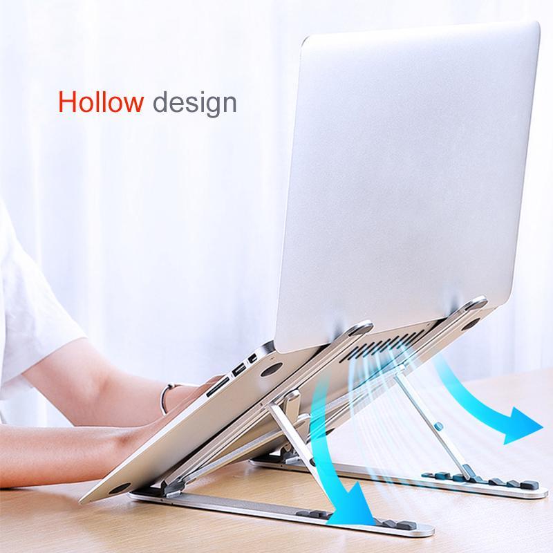 Ordenador portátil plegable soporte ajustable ayuda del sostenedor Base Notebook Tablet PC Soporte de escritorio portátil de 17 pulgadas para MacBook Air Pro Riser