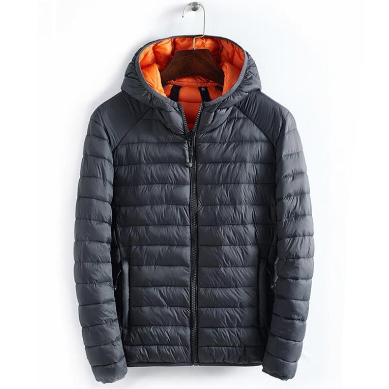 Inverno caldo Giù cappotto degli uomini di modo incappucciato semplice giacca di cotone imbottito di base casaco maschio antivento outwear giù abbigliamento giacche