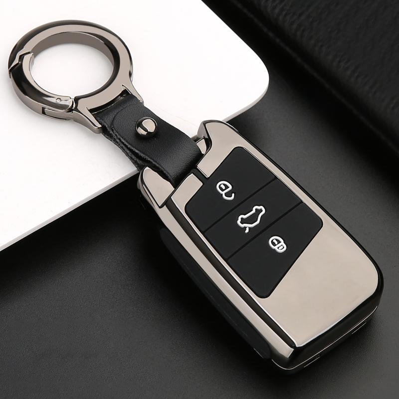 Zing сплав + Sile Car дистанционный корпус для Volkswagen VW Passat B8 Skoda SkoDa Superb 3 A7 ключевой брелок FOB оболочкой крышка рукава рукава