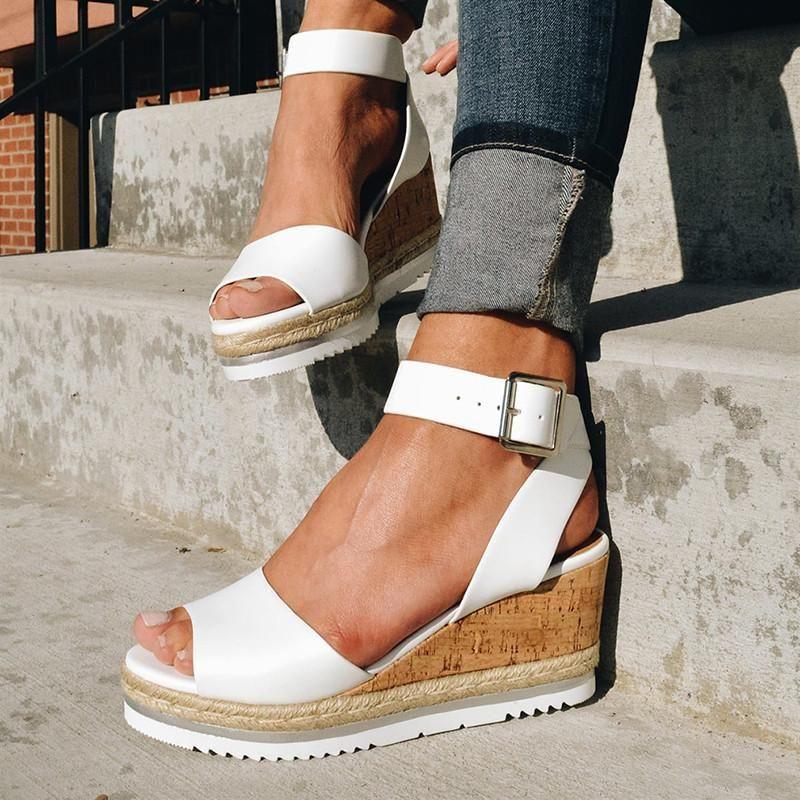 Cunhas sapatos para mulheres saltos altos Sandálias Sapatos de verão 2021 Flip Flop Chaussures Femme Platform Sandals Plus Tamanho 35-43