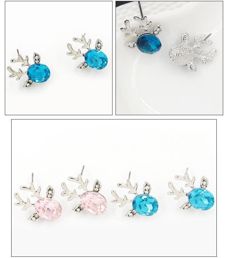 여성 크리스마스 선물 귀걸이를위한 예쁜 귀걸이 요소 캐주얼 보석 액세서리 크리스탈 스터드 귀걸이로 만든