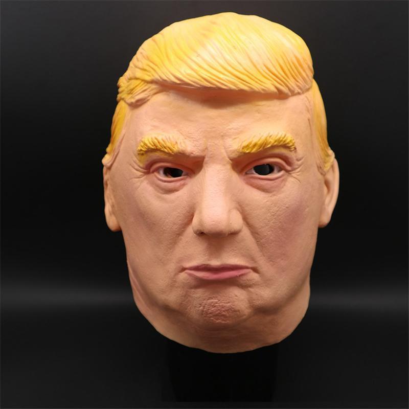 Donald Trump Overhead máscara máscaras de látex objetos graciosos Famosas multimillonario Máscara cosplay traje de mascarada Trump