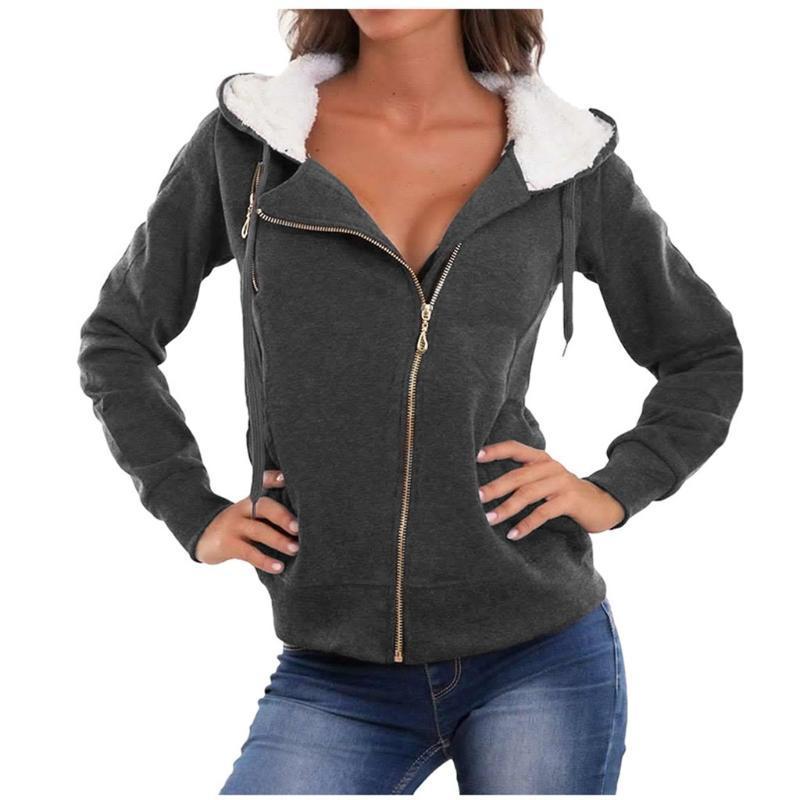 Primavera e Autunno Inverno Fleece Hooded Giacche Softshell Jacket di modo delle donne antivento impermeabile lungo Outwear Plus Size # 3
