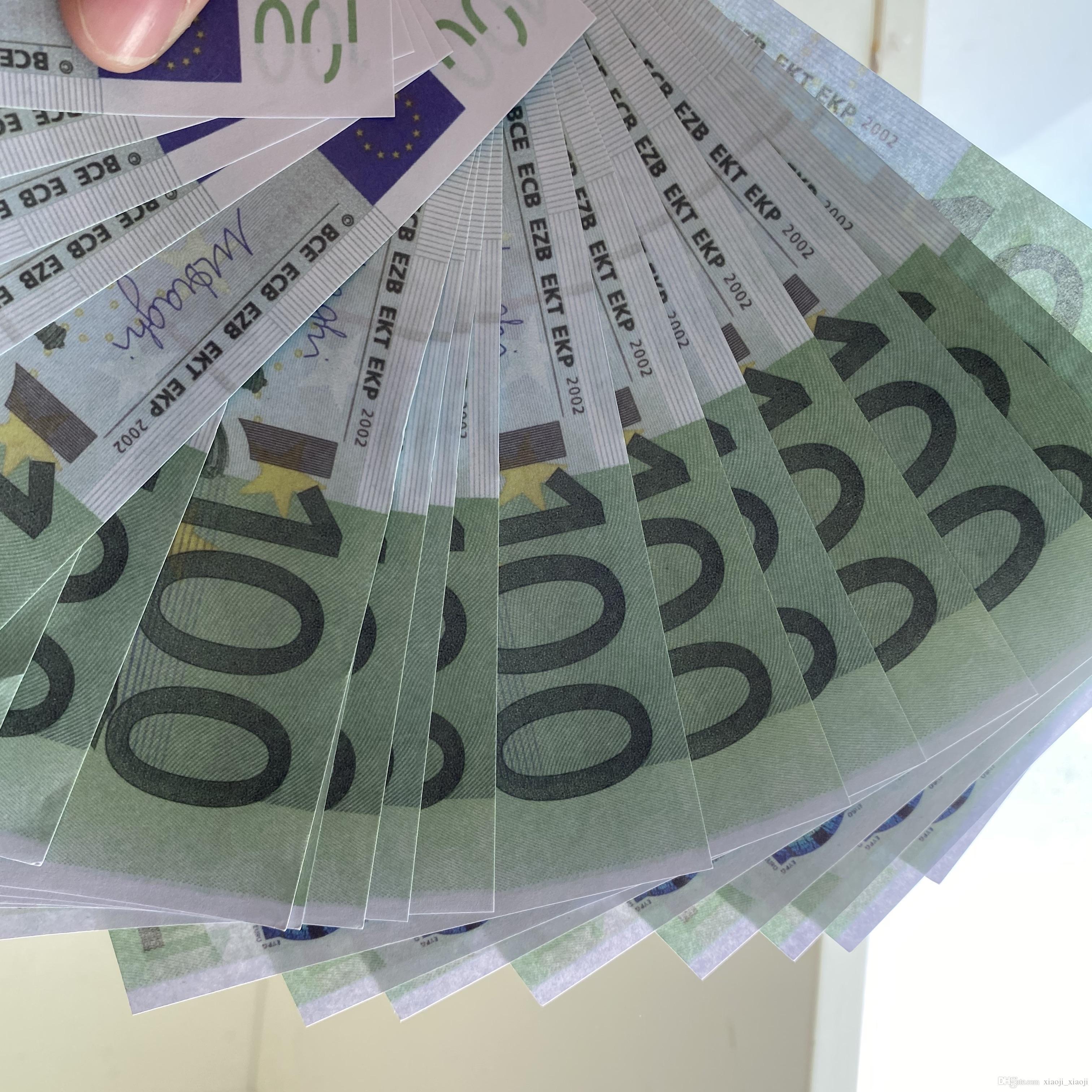 Plus d'argent Réaliste Game Family Toy236 Billet de banque Enfants / Euro / Dollar ou 100pcs / Pack US Copy Paper Prop VQWEL