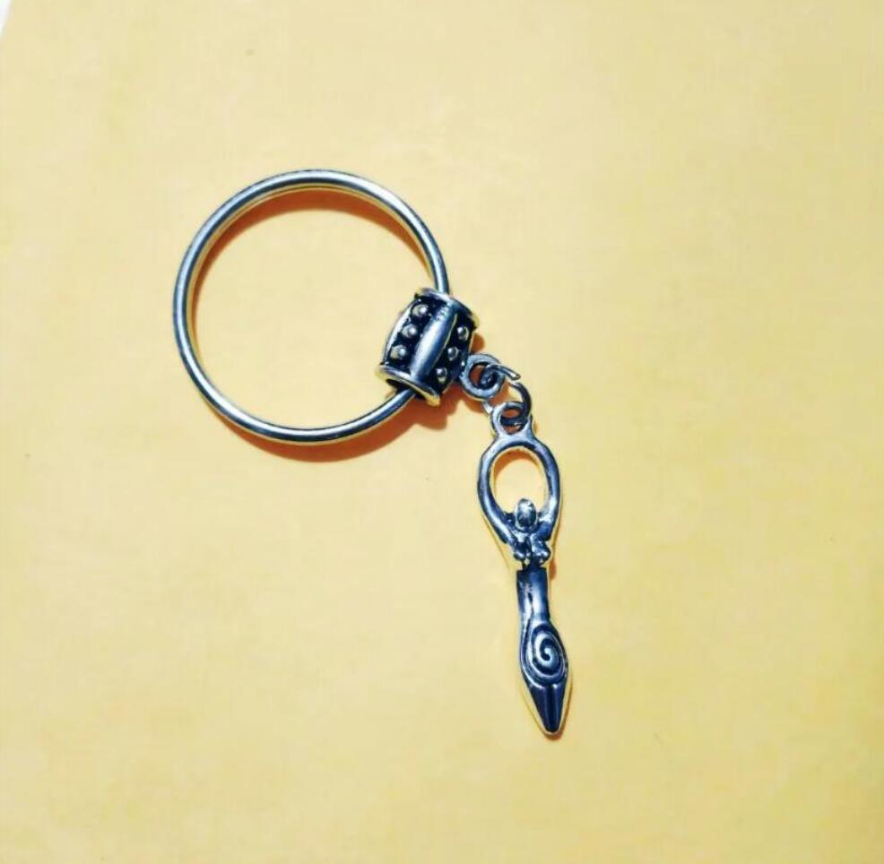 NEW HOT Fashion jewelry Female Diver/Goddess of the Earth Keychain - charm pendant key chain ring DIY Fit Keychain - 212