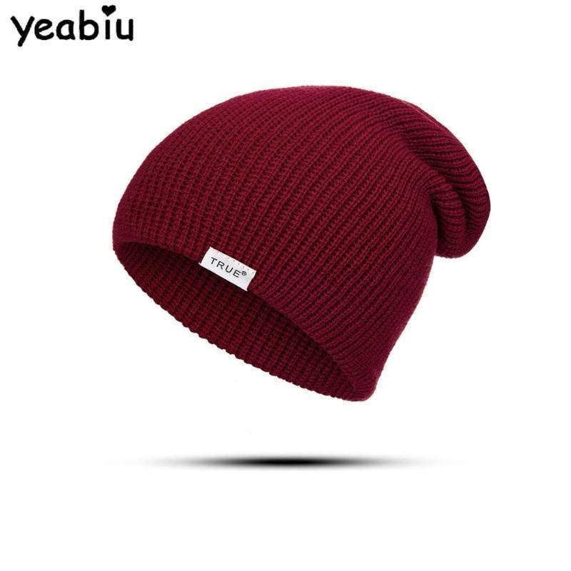YEABIU Fashion Women Hats Winter Ladies Hat For Men Warm Women Caps Beanies Cotton Knitted Female Hats Skull Male Skullies