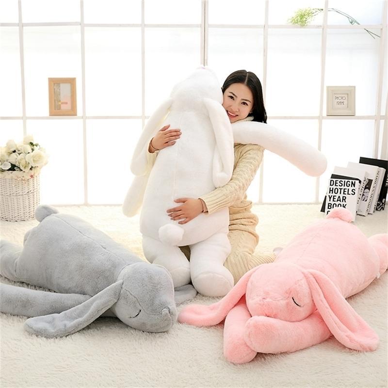 Schöne riesige Tier 90cm 120 cm weiche Karikatur großes ohr bunny plüschtier spielzeug kaninchen gefüllt kissen mädchen geschenk 201212