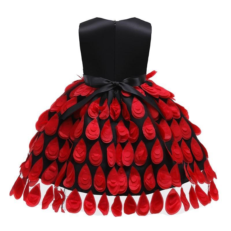 Caliente niñas fiesta de la boda con estilo largo barato sin mangas del Bowknot de Navidad princesa de invierno pluma de malla de cumpleaños de Cosplay de largo vestido de Kid