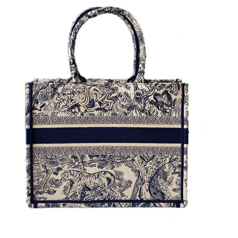 2020 جديدة مطرزة النمر سعة كبيرة فاخرة للتسوق العلامة التجارية حقيبة كبيرة حقيبة يد حقيبة الإناث اليدوية على الوجهين زهرة السفر حقيبة تحمل على الكتف