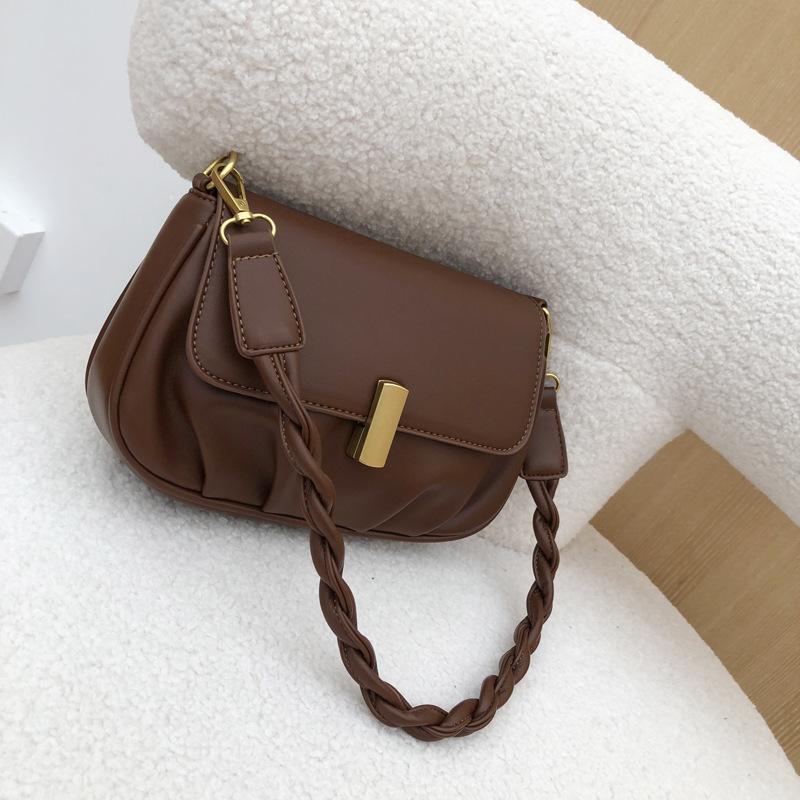 Sacs à main sac selle en cuir bandoulière petite pour l'épaule 2021 hiver luxe pour sacs Simple tendance PU fille Femme LDHKX