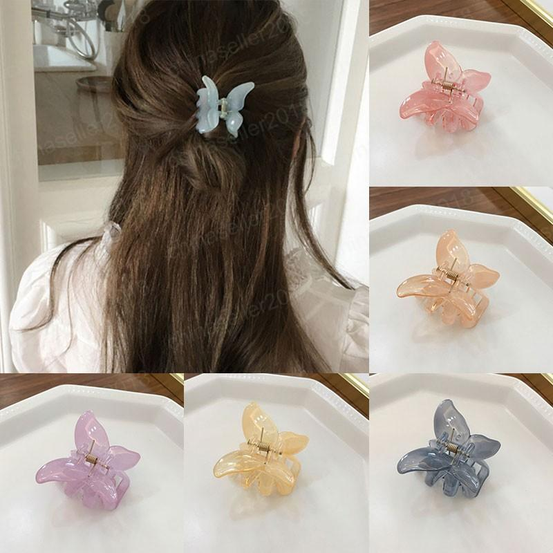 Semitransparent Butterfly Shape Hair Claws Crab Women DIY Styling Tools Mini Small Hair Clips Hairpin Barrettes Hair Accessories