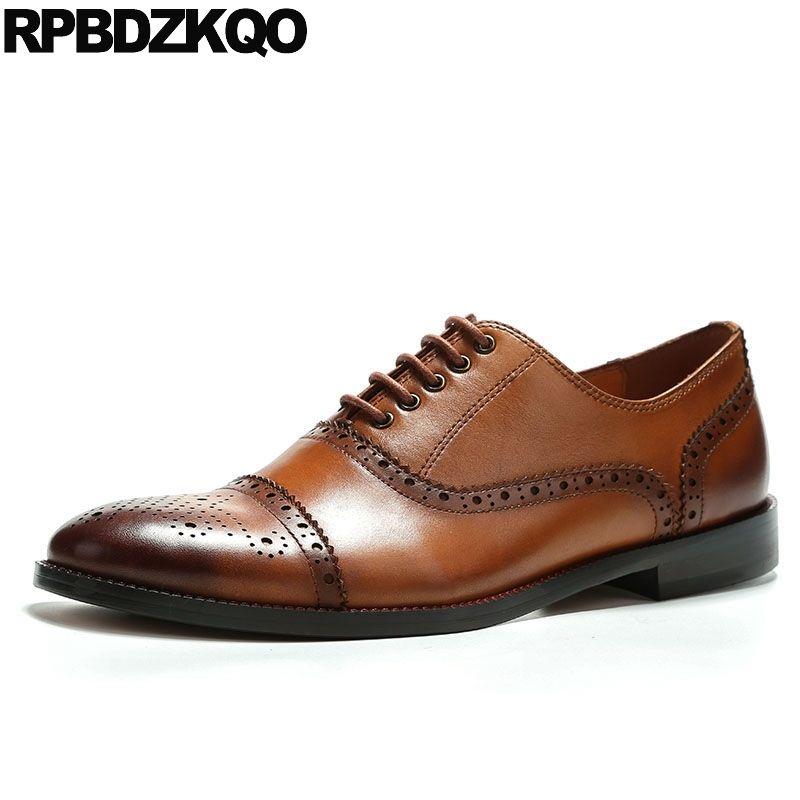 italiano de lujo 2019 del diseñador del cordón de Brown formales en marcha de negocios de Italia zapatos Oxford alta calidad de lujo de la moda acento última calzado