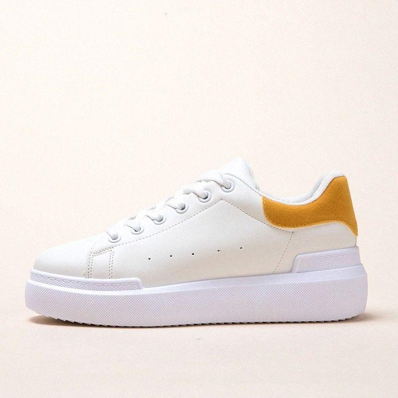 Frauen Sneaker 2020 Frühling neue Mode Schuhe Frauen Plattform Lederschuhe Beiläufige weiße Turnschuhe Atmungsaktive Frauen Vulkanize Schuh # ke50