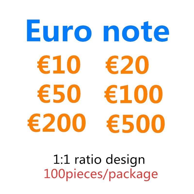 Prop 20 200 Token Kids Toy Collections Billet 10 500 50 100 Fake Copy Euro Festive Party Festive Faux Soldi Giochi di denaro Giochi regali 03 Dvuut