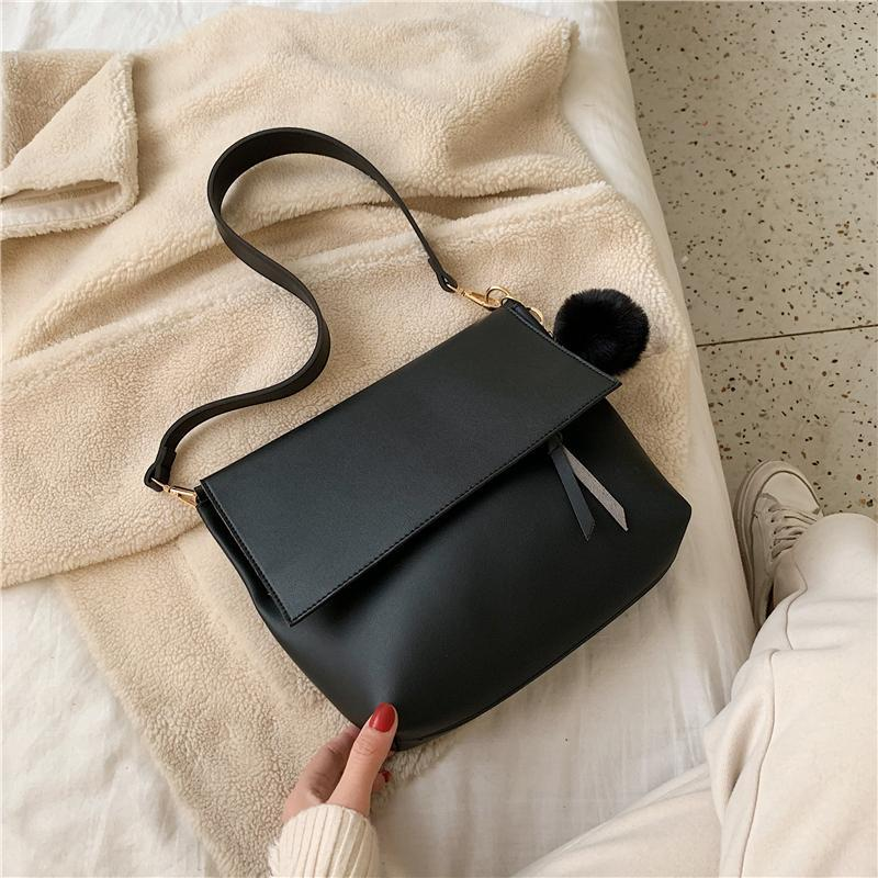 Per le donne flap borsa femminile tinta unita in pelle PU a spalla in pelle piccola borsa con cerniera con cerniera moda crossbody designer di lusso borsa VALQW