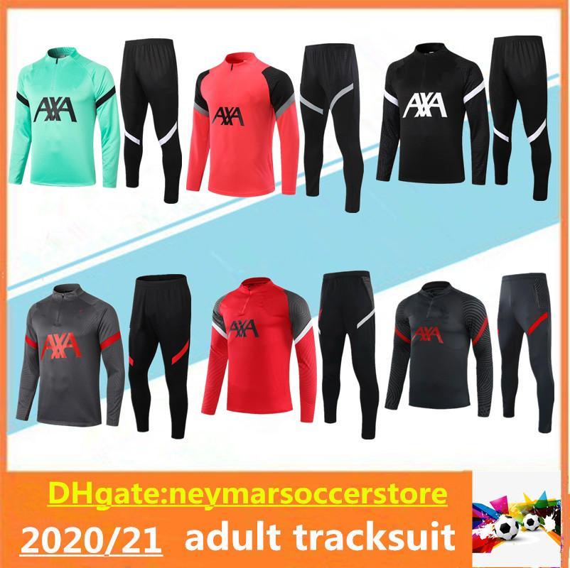 2020 2021 liverpool Survêtement Suit Soccer Training 2020 mis 2021 de costume formation MAILLOT pieds kit uniforme