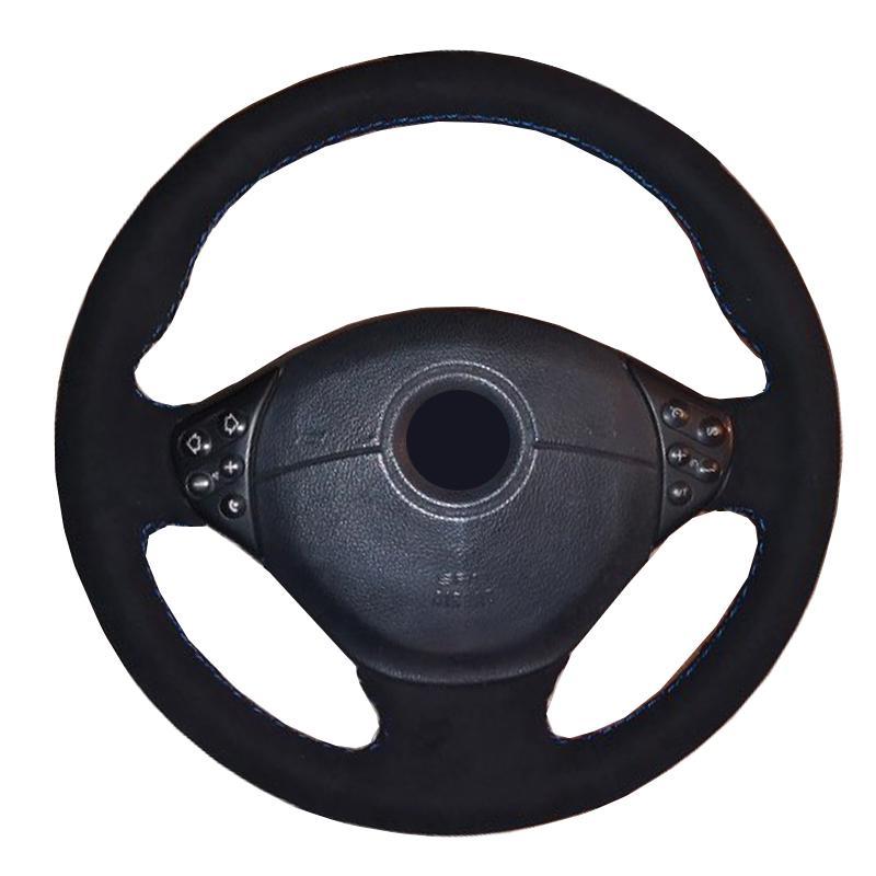 DIY El Dikiş Araç Direksiyon Kapak Wrap Volant Süet İçin BMW M Sport E36 1996-2000 E39 1995-2001 Z3 M E36 / 7 E36 / 8 1998-2002