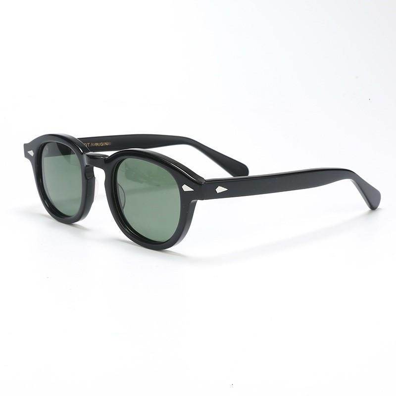 Vintage de haute qualité des lunettes de soleil progressif vert jaune lumière polarisée hommes femmes verre soleil de style Johnny Depp