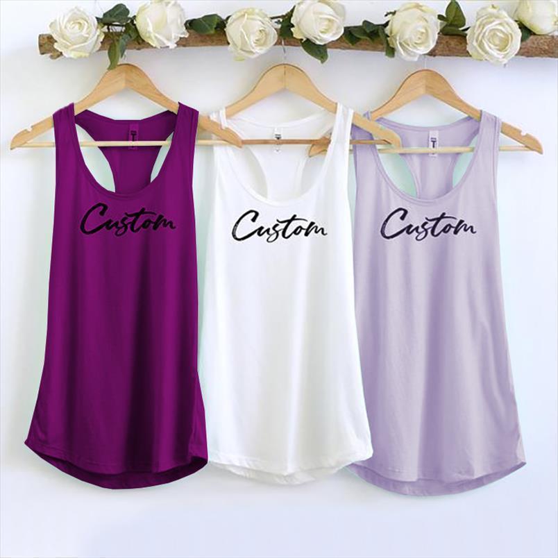 DIY Fertigen Sie kundenspezifische Frauen-Tanktops personalisierte cusual lose TRI-Mischung Ärmelloses T-Shirt Drop Shipping Gute Qualität
