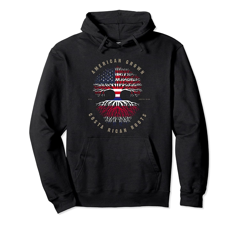Americani Grown Costa Rica Roots Costa Rica Bandiera T-shirt Pullover con cappuccio unisex di formato S-5XL con colore nero / grigio / blu / azzurro reale / scuro Heathe