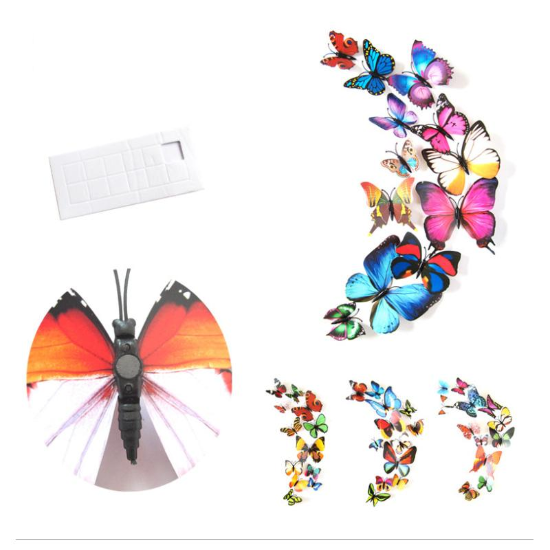3D Simulated Butterfly Wall Sticker Fridge Magnet Home Background Decoration Art Craft For Home Room Daily and Festival Decorations