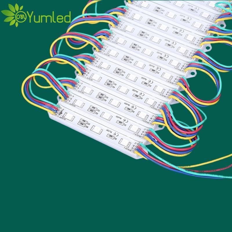 Storefront-Fenster-LED-Licht IP67 wasserdichte 12V RGB-LED-Pixelmodule 3 LEDs 5050 SMD 0,72W LED-Module 80lm-Hintergrundbeleuchtung für Channer-Buchstaben
