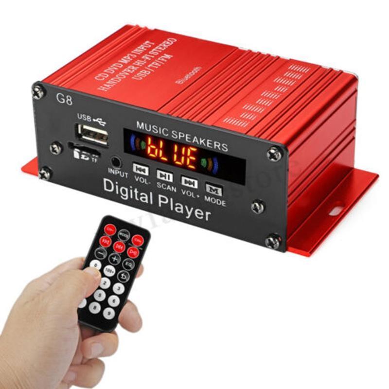 Estéreo radio sin hilos del coche del canal del subwoofer de 200W 12V 2CH audio altavoz de la música del coche del altavoz del jugador de Bluetooth 2 (2.0)