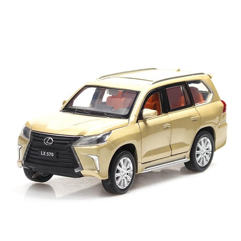 1/32 Lexus LX570 / NX200T Simulation Toy Toy Toy Toy Alliage Titulaire des enfants Jouets Véritable Collection de licences Cadeau Cadeau Off-Road Y200109