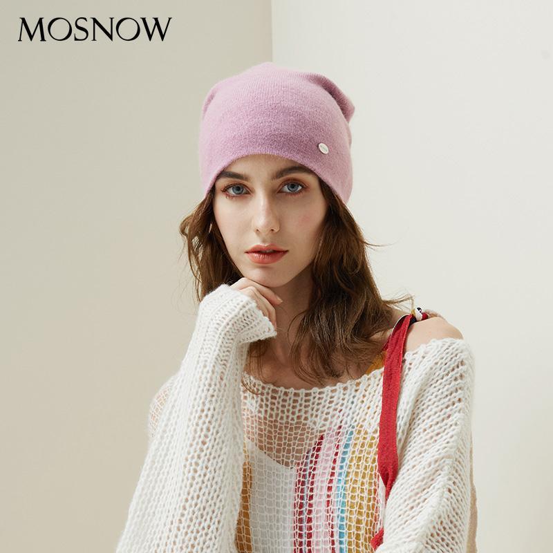 Winter-Hüte für Frau 2020 Beanies Haar Strickmütze Mädchen Herbst Weiblichen Beanie Warmer Bonnet Damen Freizeit-Kappe 8 Farbe