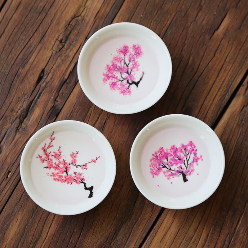 Temperatura mágica japonesa Sakura Copa fría cambio de color de la pantalla Sake flor taza de cerámica Kung fu taza de té de té Tazón 1020