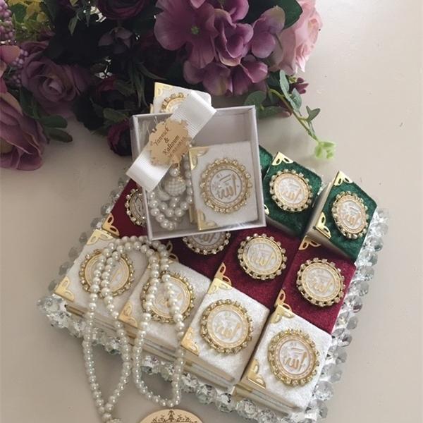 30 (PCs) FREE SHPPNG-MINI QURAN UND TASBH-- I, Islamische Hochzeit, muslimische Hochzeit, Hajj-Geschenke, Quran-Geschenke 1027
