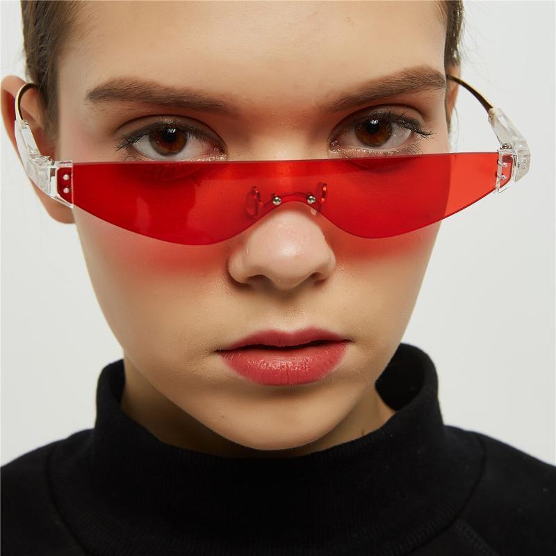 Small Square Rimless Sunglasses for Women Men Designer Fashion Retro Vintage Sun Glasses lunette de soleil femme