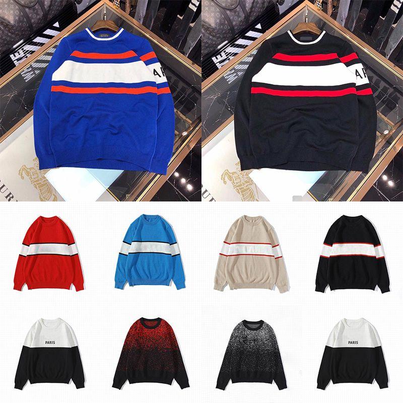 2020 남성 여성 디자이너 스웨터 LUXE 편지 풀오버 남성 후드 티 긴 소매 활동 스웨터 자수 니트 겨울 옷