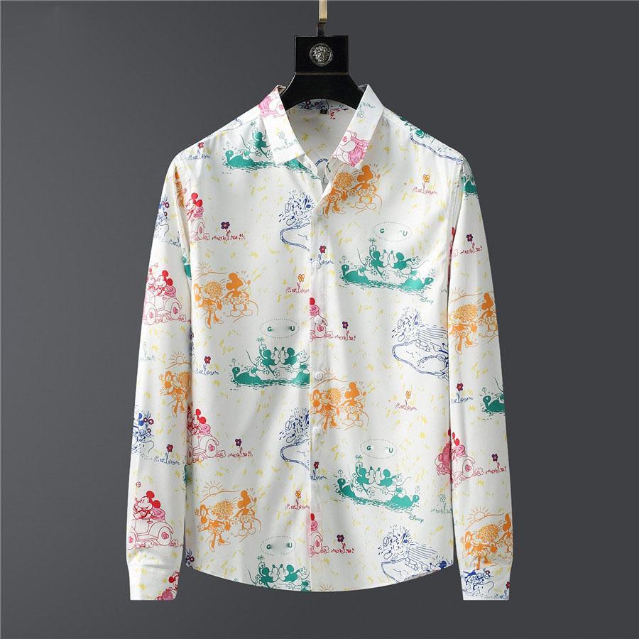 19S новый бренд мужской бизнес случайные рубашки мужские с длинными рукавами полосатый пригонки Париж дизайнер социальных мужская рубашка новая мода рубашка M ~ 3XL